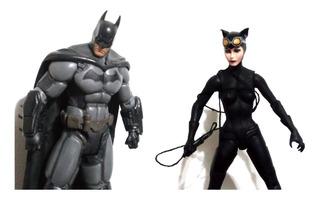 Muñecos Batman X2 Arkham Asylum Gatubela Cat Woman Dc Comics