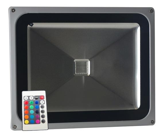 Refletor Led 50w Rgb Com Controle Bivolt - Ledsafe®