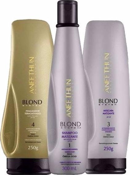 Kit Blond System Matização Intensa Aneethun (3 Produtos)