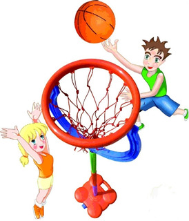 Aro De Basket De Pie Tenisol Incluye Red Y Pelota Basquet