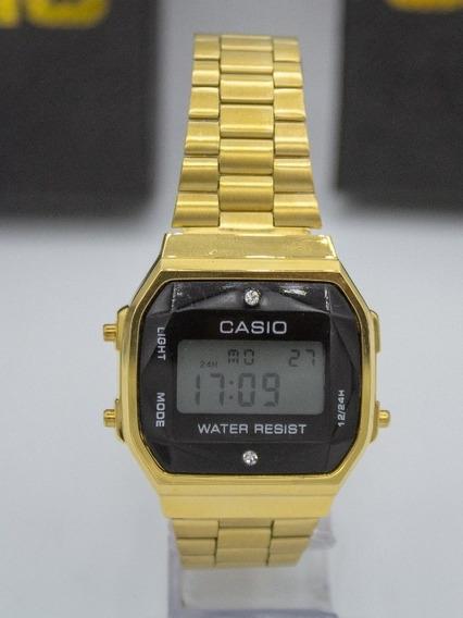 Relógio Casio Vintage Diamond Dourado Frete Grátis