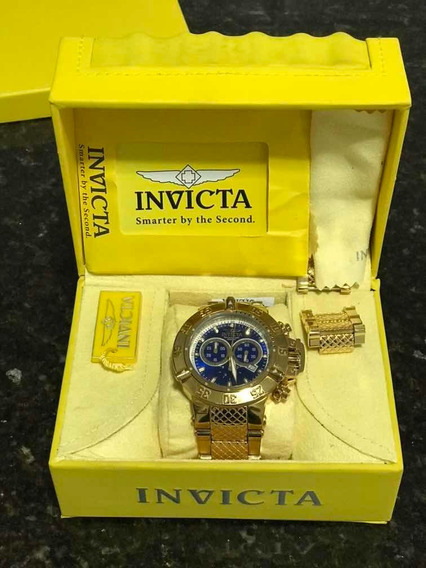 Relógio Invicta 14501 Subaqua Banhado Ouro 18k