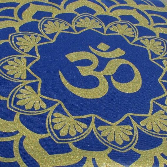 Toalha Para Tarô Mandala Símbolo Om 73 Cm Com Brilho