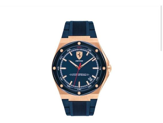 Reloj Caballero Ferrari Aspire 830553 Azul Nuevo Sin Usar