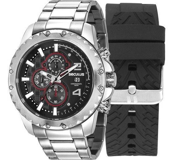 Relógio Masculino Seculus Troca Pulseira 20604g0svns1