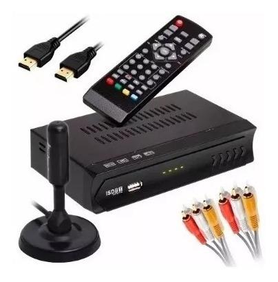 Conversor Tv Digital Recepção Vhf E Uhf + Antena Full Hd