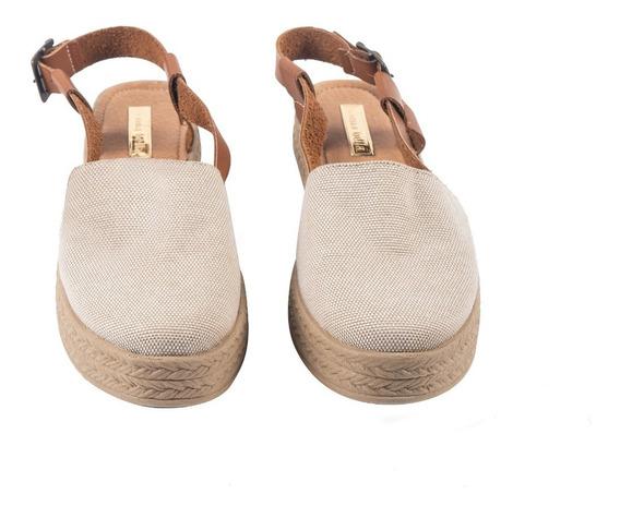 Zapato Casual Para Mujer En Lona Color Beige