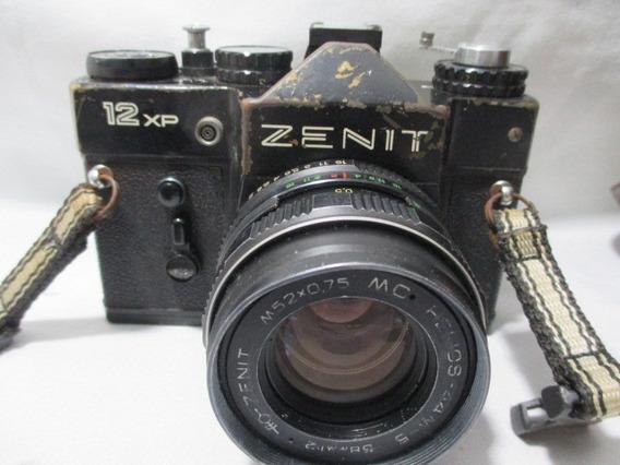 Antiga Camera Zenit 12 Xp ***no Estado Peças Conserto**