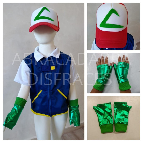 Disfraz Tipo Ash Ketchum Inspirado Pokémon Pikachu