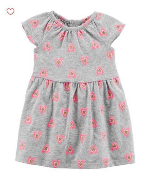 Vestido Carters 2 Peças De Algodão Bebê Original