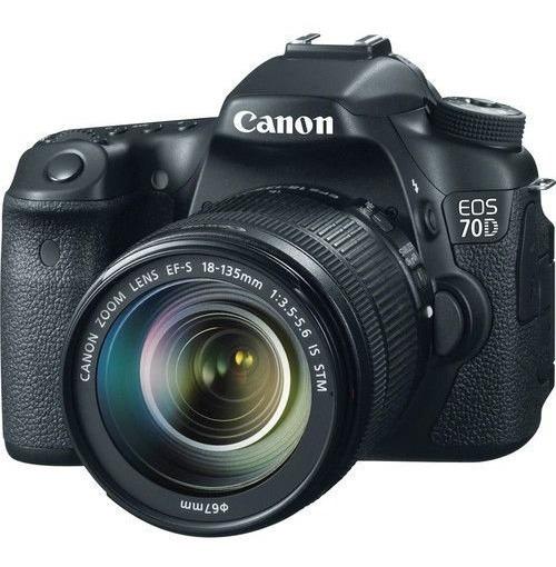 Canon Eos 70d (wifi) Efs 18-135mm Stm + 32gb + Brinde