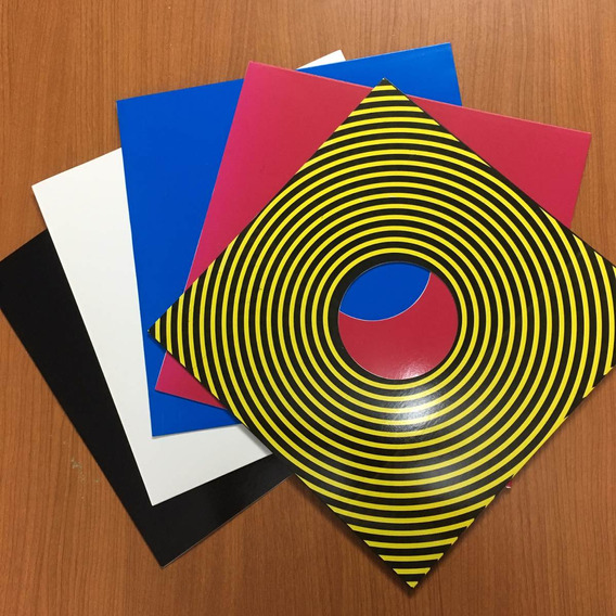10 Sets De Tapa + Sobre Papel + Funda Ext Vinilo/lp