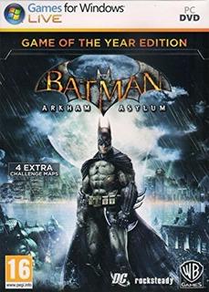 Batman: Arkham Asylum Goty Edition Pc - Steam Original