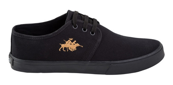 Sapatenis Club Polo Collection Manchester Black