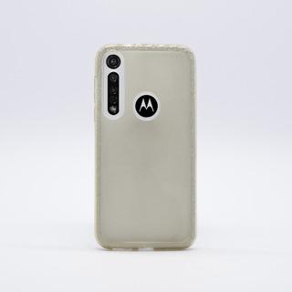 Funda Motorola G8 Plus Tpu Diseño Glitter Dorada