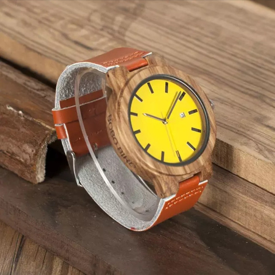 Relógio De Bambu Original