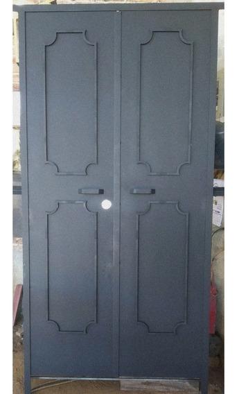 Puerta Principal Reforzada Estilo Herrería Clásica
