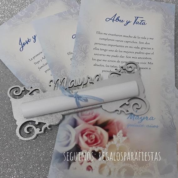 Pergaminos Personalizados Para Ceremonia De Velas