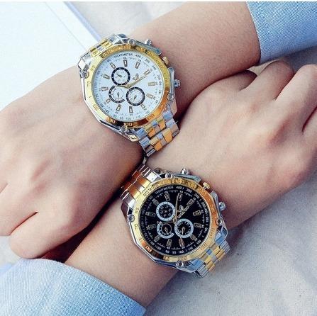 Relógio Para Homens Modernos Aço Inoxidável Quartz