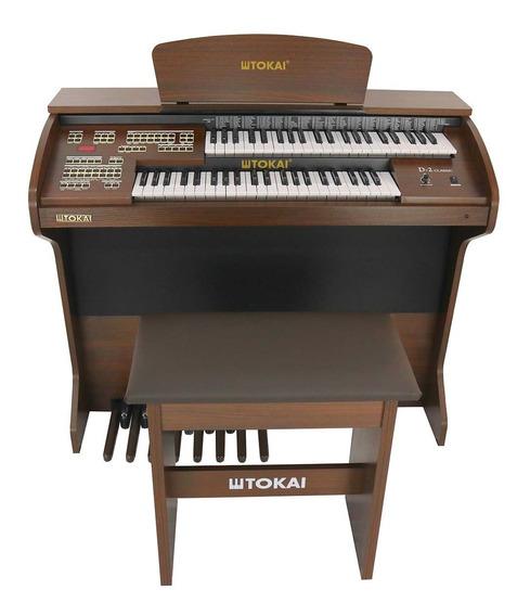 Órgão Eletrônico Tokai D-2 Classic Marrom