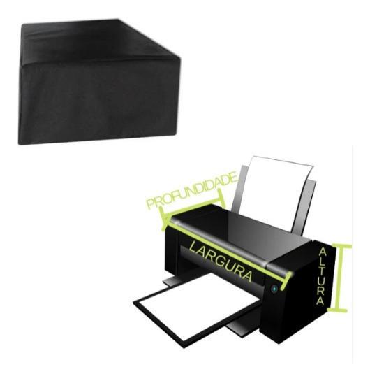 Capa Preta Tnt Para Impressora Multifuncional Epson Canon Hp