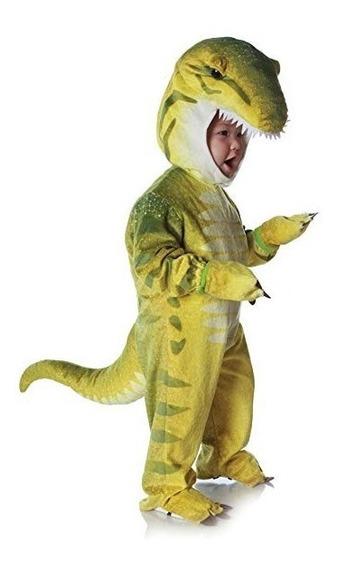 Traje De Dinosaurio T-rex Para Bebe Disfraz Halloween Verde