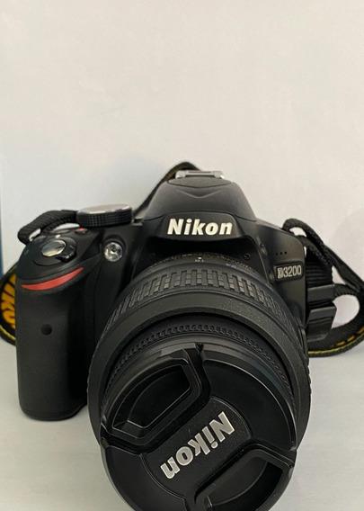 Câmera Fotográfica Nikon D3200 Com Lente 18-55 Profissional