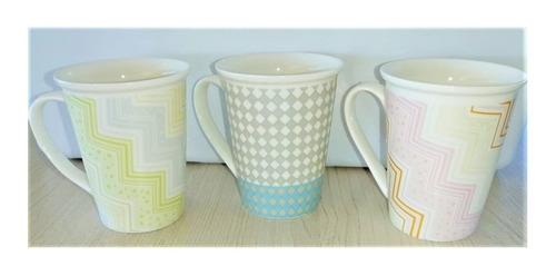 Imagen 1 de 6 de Juego De Tazas X 6 Ceramica Diseños Varios 200 Ml
