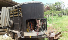 Trailer Reboque Carretinha Transporte Para 2 Cavalos Dok Ok