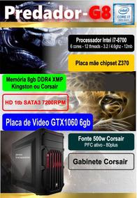 Computador Intel I7 8700 8gb Gtx1060 Predador G8