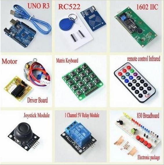 Kit Starter Para Arduino Rfid Learn Suite R3 Com Case 60ite