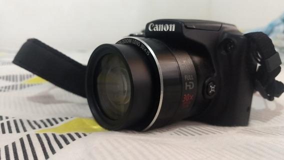 Camera Canon Power Shot Sx510 Hs + Cartão 32 Gb + Mochila