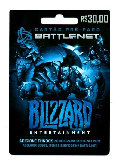 Cartão Blizzard Battle.net R$30 Wow Overwatch Hearthstone