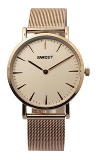 Reloj Sweet Mujer Tzahal Rose Vintage Tejida Agente Oficial