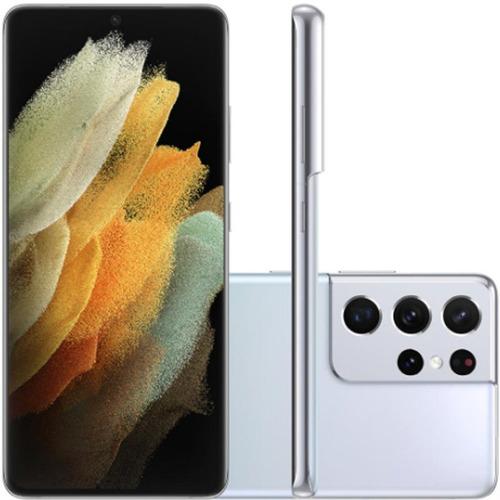 Celular Smartphone Samsung Galaxy S21 Ultra G998b 256gb Preto - Dual Chip