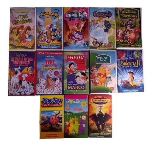 Pack 13 Películas Vhs Originales Disney Y Otras Marcas