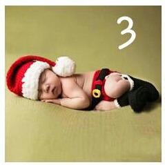Conjunto Newborn Natal Papai Noel Bebe Croche Foto