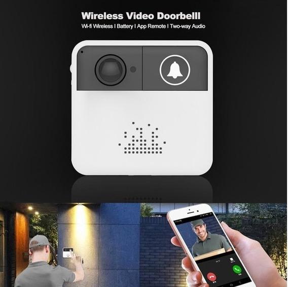 Vídeo Porteiro Eletrônico Wifi Com Camera Visão Noturna Ir
