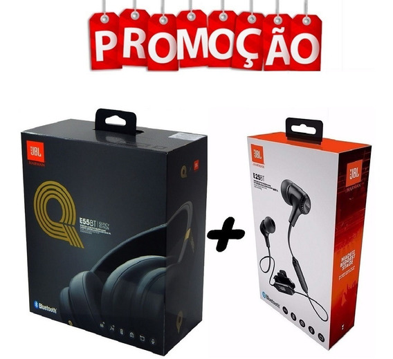 Fone De Ouvido Jbl E25bt + Jbl E55bt Quincy Edition Sem Fio