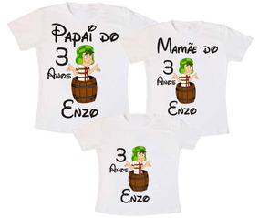 Camiseta Kit Família Chaves - Personalizado