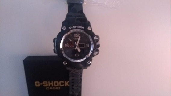 Relógio G Shock Mudmaster Gg10001adr Correia Camuflada Cinza