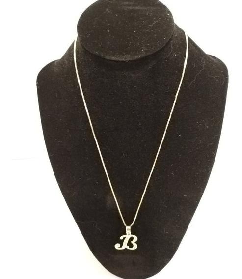 Collar Dije Letra Inicial Chapa De Oro 18k + Envio Gratis