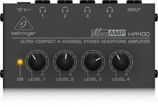 Amplificador Auriculares Behringer Ha400 4 Canales Estereo