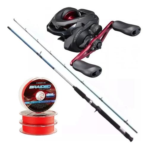 Combo Bait Pesca Reel Shimano Caius Hg + Caña Shimano Multi