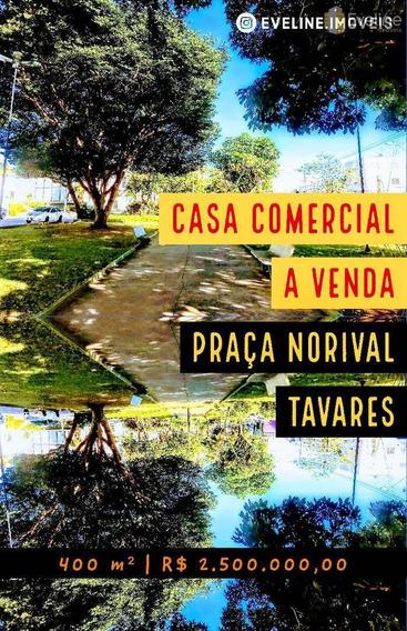 Venda - Casa Comercial 400m - Praça Norival Tavares - Mogi - V927