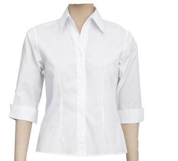 Blusa Camisete Branco Feminino Para Uniforme Pack 6 Pçs