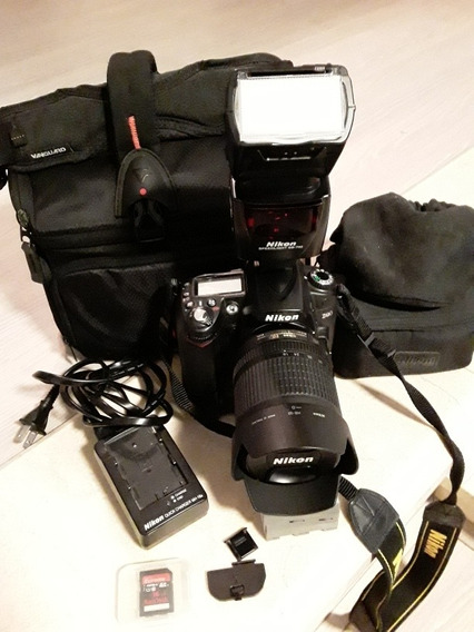 Camera Nikon D90 18-105mm, Grip, Flash Sb 700, Bolsa.