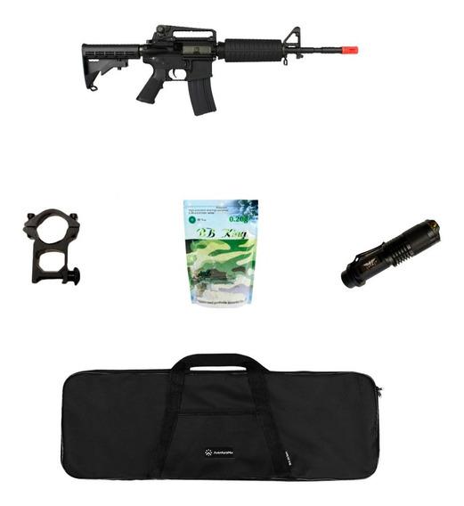 Rifle Airsoft Elétrico King Arms M4a1 + Acessórios