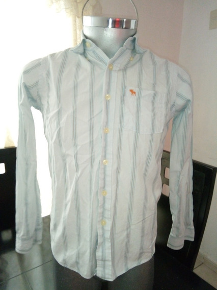 Camisa Rayas Marca Abercrombie Talla Extra Chica Con Detalle