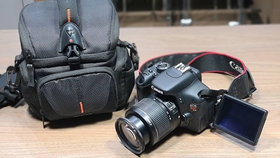 Câmera Canon Eos T3i Com Cartão 32gb E Maleta